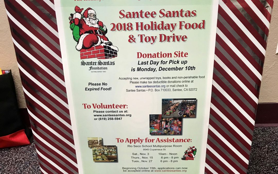 Blessing others this holiday season with Santee Santas